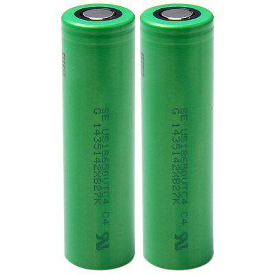 US18650VTC4 18650 3.7V 2100mAh Rechargeable Li - ion Battery 30A Discharge  -  2 pcs