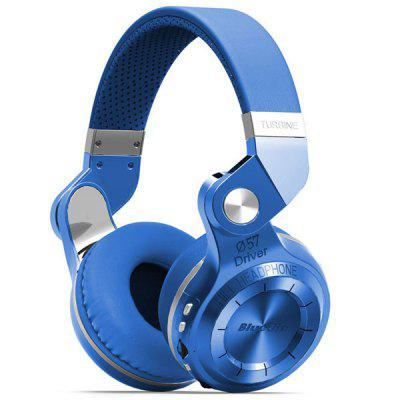 Bluedio T2+ Wireless Bluetooth V4.1 Stereo Cuffie Auricolari Supporto TF Card Funzione FM
