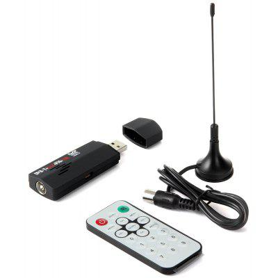 R820T RTL2832U USB DVB-T RTL-SDR FM DAB Digital TV Tuner Set with IEC nterface Remote Controller