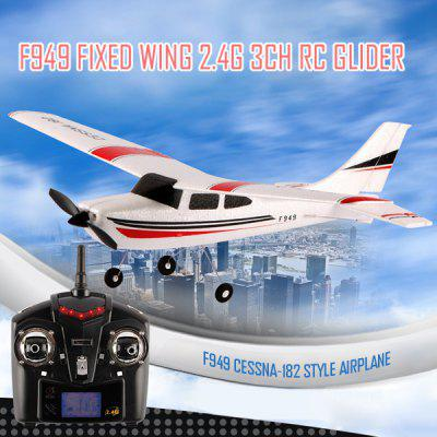 WLtoys F949 Cessna 182 2.4G 3 Channel RC Aircraft Fixed - wing RTF Airplane pipedream basix 6 5 dong with suction cup прозрачный фаллоимитатор с мошонкой