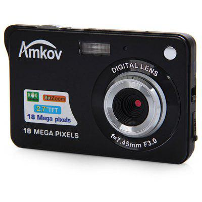 Amkov CDC3 18.0MP 2.7 inch TFT Screen 8X Digital Zoom Digital Camera Anti - shake 5.0MP CMOS Sensor High Resolution Video