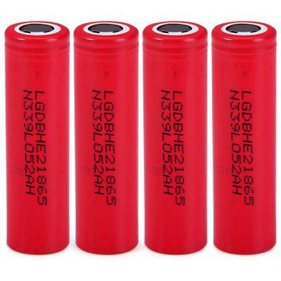 4 x  3.7V 18650 2600mAh Lithium - ion Battery Rechargeable Battery ( 18650HE2 )