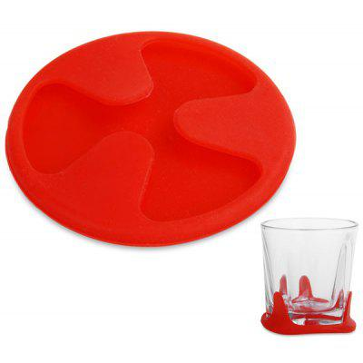 Buy RED Silicone Coaster Non slip Cup Cushion Holder Drink Placemat Mat for Home Supplies for $1.99 in GearBest store