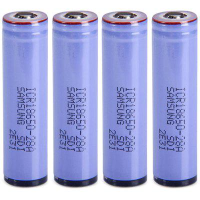 4 x  ICR18650  -  28A 3.7V 18650 2800mAh Protected Rechargeable Lithium - ion Battery