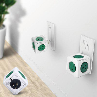 Allocacoc Original 5 Outlets 15A 125V PowerCube Socket US Plug Adapter  -  1 Piece