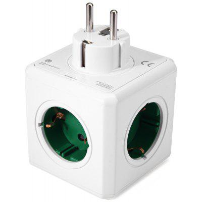 1 pieza Allocacoc 5 tomacorrientes PowerCube Socket Original DE Adaptador de enchufe - 16A 250V