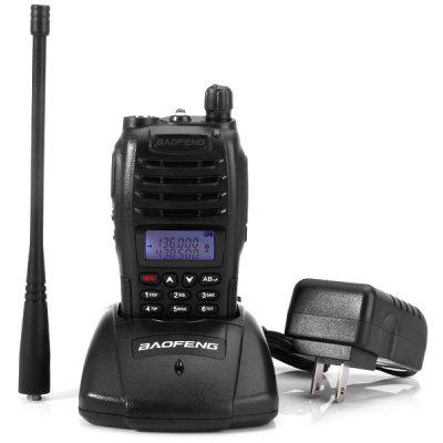 Baofeng B6 VHF / UHF Dual Band programável Walkie Talkie Two - way Rádio FM Transceptor Handheld Interphone com lanterna