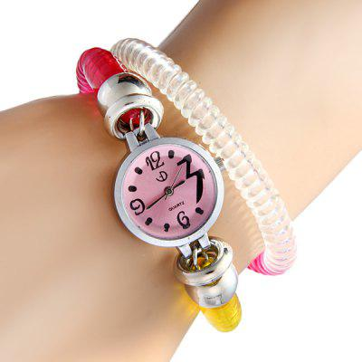 Elastic Spring Style Watchband Unisex Quartz Watch