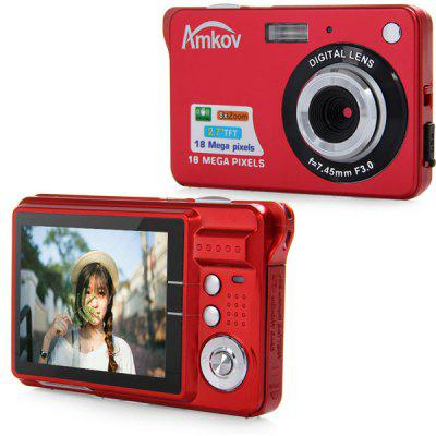 Buy RED Amkov CDC3 18.0MP 2.7 inch TFT Screen 8X Digital Zoom Digital Camera Anti shake 3.0MP CMOS Sensor High Resolution Video for $33.30 in GearBest store