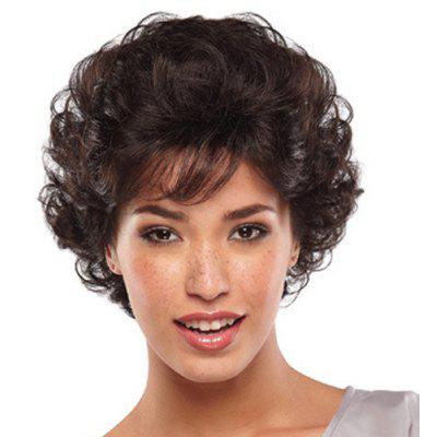 Buy COLORMIX Fluffy Attractive Side Bang Short Deep Wavy Black Brown Heat Resistant Women's Synthetic Wig for $17.64 in GearBest store