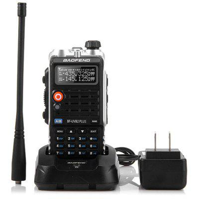 Gearbest Baofeng UVB2 PLUS VHF / UHF Dual Band Programmable Walkie Talkie Two - way Radio FM Transceiver Handheld Dual Standby Interphone with Flashlight