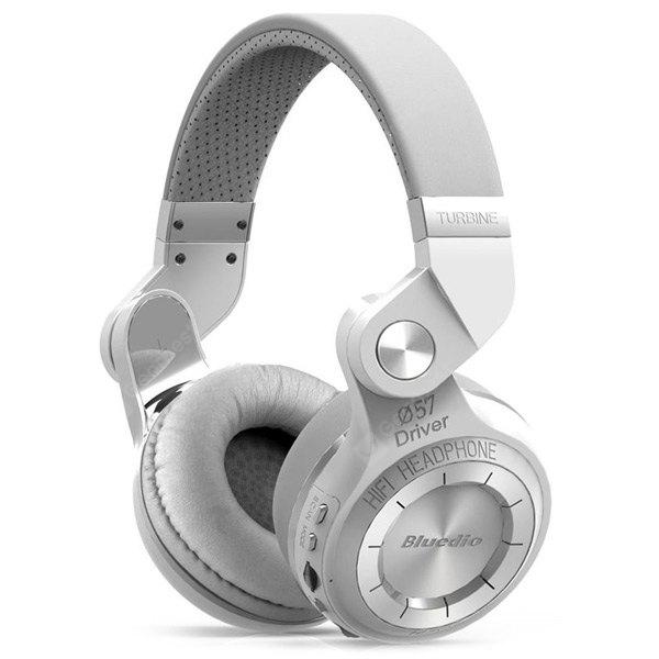 Bluedio T2+ Wireless Bluetooth V4.1 Stereo Headphones with Microphone Headset Support TF Card FM Function