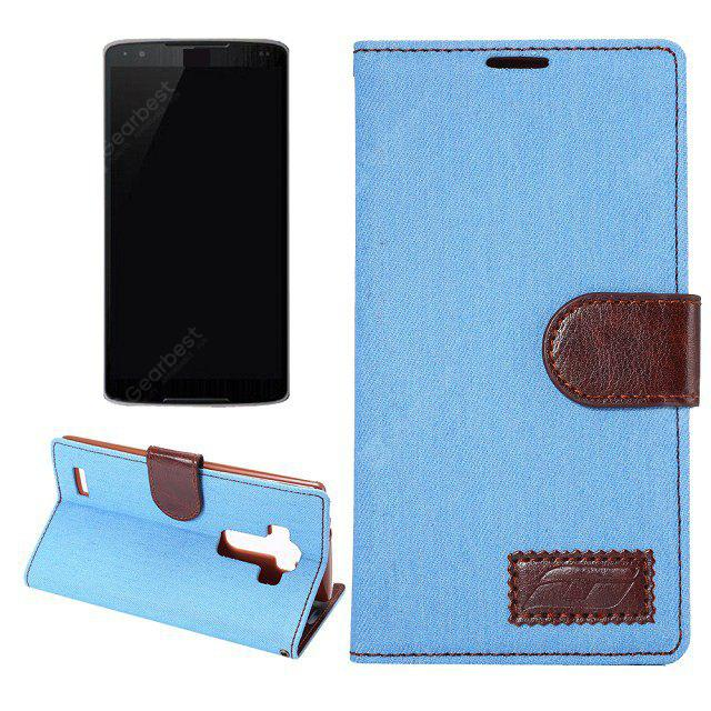Stand Design Card Holder Housse en cuir en cuir PU de Denim Style pour LG G4
