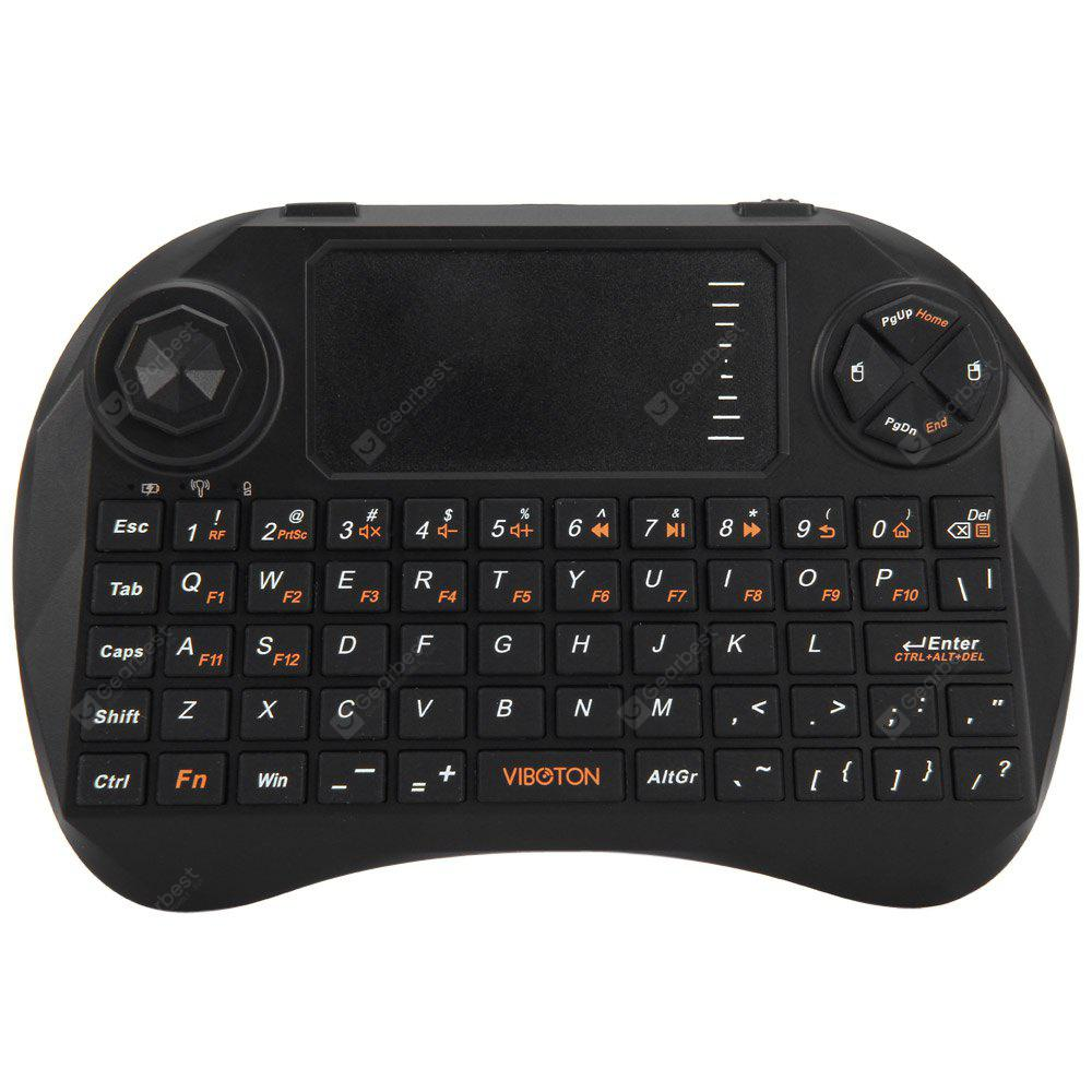 Viboton X3 2.4GHz Mini QWERTY Keyboard Dual Power Supply Mode for Home Entertainment