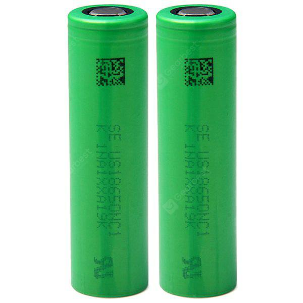 2 x  US18650NC1 18650 3.7V 2900mAh Rechargeable Li - ion Battery 10A Discharge
