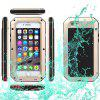 Waterproof Shockproof Dustproof Gorilla Glass Aluminum Metal Case for iPhone 6 6S - GOLDEN