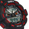 Gobu 1531 Dual Movt LED Sports Military Watch 30M Water Resistance Rubber Band - BLUE