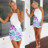 best Spaghetti Strap Backless Floral Summer Dress
