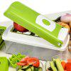 12Pcs Multi - function Shredder Salad Machine Kitchen Slicer Cutter Containers for Cutting Vegetable Fruit - GREEN