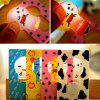 Ultra - slim Folding Card Lamp Funny LED Cartoon Image Pocket Bulb / Wallet Card Light Gift - YELLOW