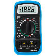 Bside MAS838 LCD Display 1999 Counts Digital Multimeter with Data Hold / Low Battery Display