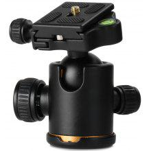 Pro Camera Monopod Tripod Ball Head Arca-Swiss Type PU50 Quick Release Plate with Gradienter