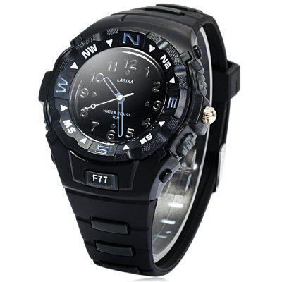 Lasika F77 Unisex Quartz Watch Sports Style Rubber Strap Wristwatch