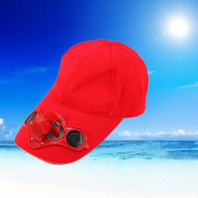 Solar Power Hat Peak Cap Sunhat with Air Fan for Summer Outdoor Sports Cycling Supplies