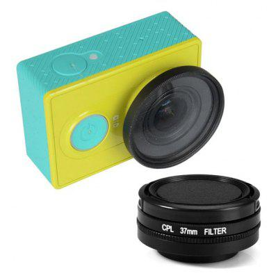 CPL 37mm Filter + Lens Cover Set for Xiaomi Yi Action Sports Camera Eliminate Reflections