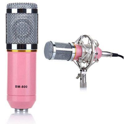 BM-800 Professional Studio Condenser Sound Recording Microphone + Metal Shock Mount Kit for Recording