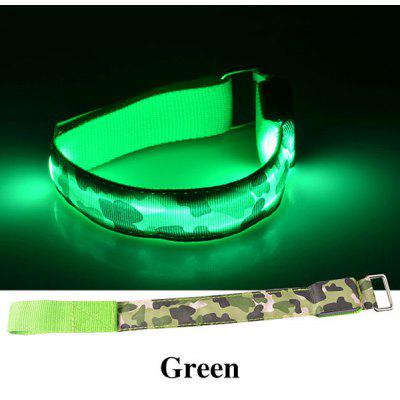 3 Modes Night Running Bike Riding Cycling Armband with LED Light Camouflage Armlet