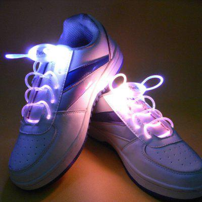 Attractive 1 Pair of LED Noctilucence Shoelace 3 Modes Selecting for Night Outdoor Sports