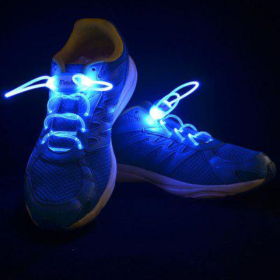 Buy BLUE Attractive 1 Pair of LED Noctilucence Shoelace 3 Modes Selecting for Night Outdoor Sports for $3.36 in GearBest store