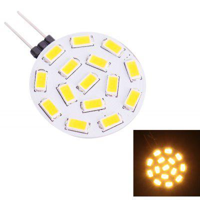 Buy WARM WHITE LIGHT G4 2W 570LM 3000K SMD 5730 15 LEDs Warm White Crystal LED Light Bulb  (DC 12 24V ) for $1.74 in GearBest store