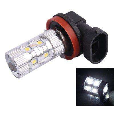 H11 60W 650LM 6000K SMD 12 LEDs Cold White Light LED Car Fog Light Headlamp ( DC 12 - 24V )
