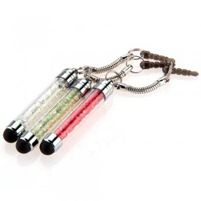 3pcs Blinking Crystal Mini Dust Style Stylus Touch Screen Pen