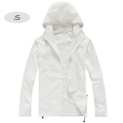 Unisex Sun Protection Anti-UV Coat Outdoor Sports Water Resistant Quick Dry Jacket
