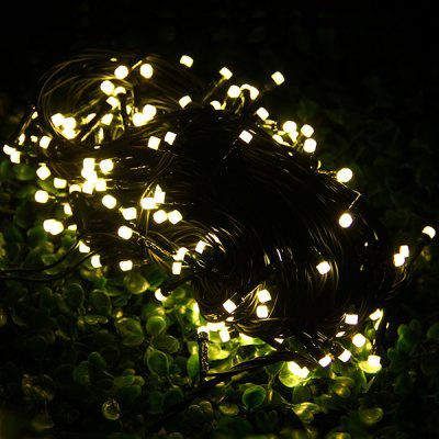 Set of 20m Warm White 200 LEDs Outdoor String Light Frosted Romantic Holiday Lamps ( Green Wire )