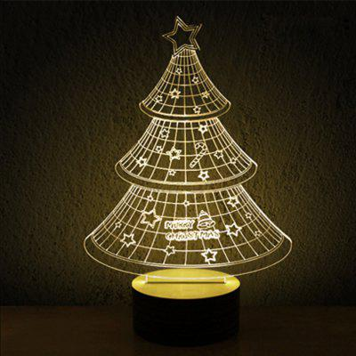 Transperant 3D Wireframe LED Bulbing Christmas Tree Lamp Magic Night / Bed Light