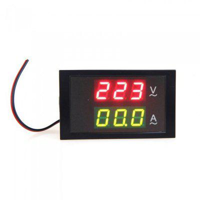 Buy BLACK TS-DL85-2042 Mini AC 80-300V LED Panel Voltage Meter Ammeter Digital Dual Display with Current Transformer for $9.06 in GearBest store