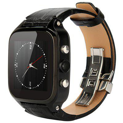 FIFINE W9 with Genuine Leather Watchband Android 4.4 1GB RAM 8GB ROM 3G Smart Wa