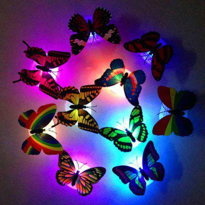 1pcs 3D Color Changing LED Butterfly Light Wall Night Lights