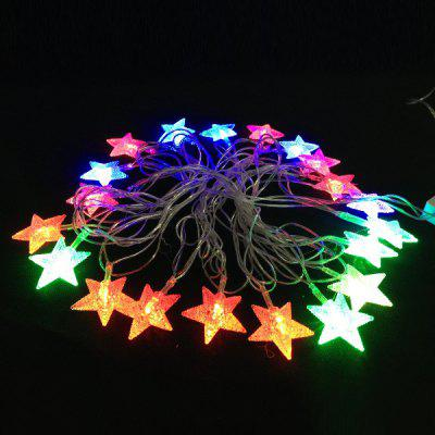Star Pattern 5m RGB 20-LED Christmas Flash LED Light Strip ( EU Plug 4.8W AC 110 - 220V )