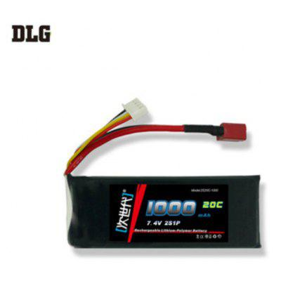 DLG 2S 20C 1000mAh 7.4V 40C Instantaneous Rate Battery for Remote Control Car Aircraft etc. Supplies