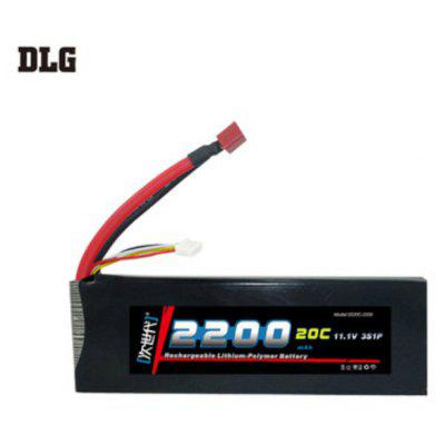 DLG 3S 20C 2200mAh 11.1V 40C Instantaneous Rate Battery for Remote Control Car Aircraft etc. Supplies
