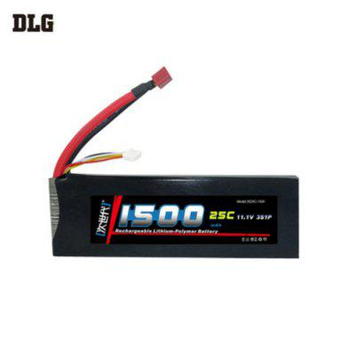 DLG 3S 25C 1500mAh 11.1V 50C Instantaneous Rate Battery for Remote Control Car Aircraft etc. Supplies