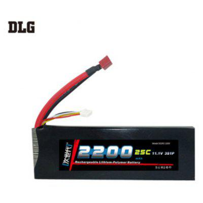 DLG 3S 25C 2200mAh 11.1V 50C Instantaneous Rate Battery for Remote Control Car Aircraft etc. Supplies