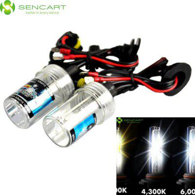 Sencart 9006 HB4 P22D 55W 4500LM 4300K Natural White Light HID Xenon Car Headlamp DC 12V