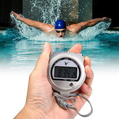 TF807 Multifunction Handheld Digital Chronograph Timer Sports Stopwatch Alarm Clock with Calendar Thermometer Function