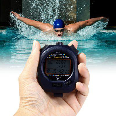 PC3860 Multifunction Handheld Digital Chronograph Timer Sports Stopwatch Alarm Clock with Calendar Display